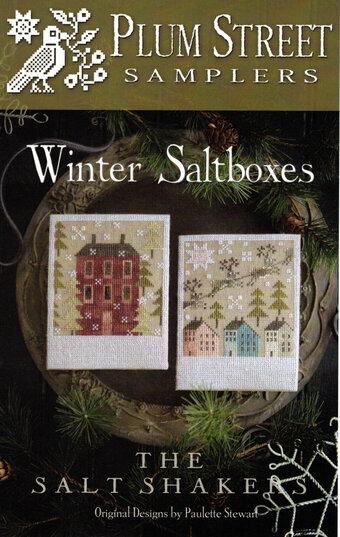 Winter Salt Boxes Cross Stitch Pattern by Plum Street Samplers