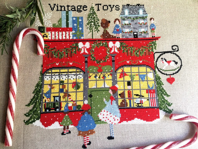 Vintage Toys Cross Stitch Pattern by Lilli Violette