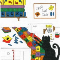 Crazy Cat Quilt Cross Stitch Pattern by Imaginating