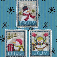 Snowman Trio Cross Stitch Patterns by Waxing Moon Designs