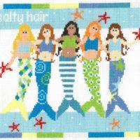Ocean Air, Salty Hair Cross Stitch Pattern by Imaginating