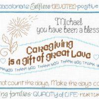 Let's Appreciate a Caregiver Cross Stitch Pattern by Imaginating