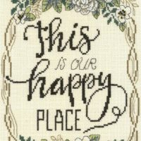 This Is Our Happy Place Cross Stitch Pattern by Imaginating