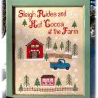 At The Farm Cross Stitch Pattern by Pickle Barrel Designs