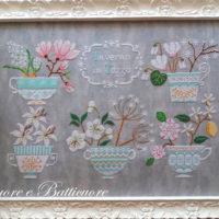 Winter in a Cup Cross (INVERNO in TAZZA) Stitch Pattern by Cuore e Batticuore