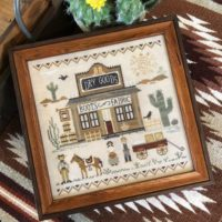 Old West Dry Goods Cross Stitch Pattern by Little House Needleworks