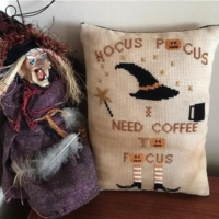 COFFEE TO FOCUS Cross Stitch Pattern by Twin Peak Primitives