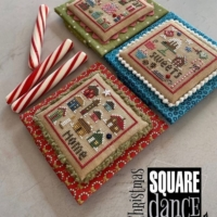 Heart in Hand CHRISTMAS SQUARE DANCE 1 Cross Stitch Pattern