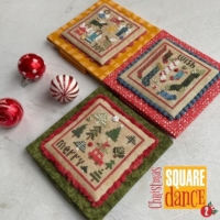 Heart in Hand CHRISTMAS SQUARE DANCE 2 Cross Stitch Pattern