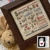 Heart in Hand SMALLEST THINGS SAMPLER Cross Stitch Pattern