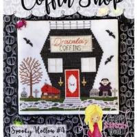 Little Stitch Girl COFFIN SHOP Spooky Hollow 4 Cross Stitch Pattern