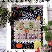 Little Stitch Girl LET LOVE GROW Cross Stitch Pattern