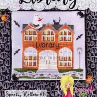 Little Stitch Girl LIBRARY SPOOKY HOLLOW 6 Cross Stitch Pattern – Halloween Cross Stitch