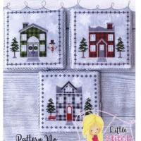 Little Stitch Girl PLAID TIDINGS Cross Stitch Pattern – Christmas Cross Stitch