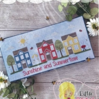 Little Stitch Girl SUMMER CIRCLE Cross Stitch Pattern – Sunshine and Summertime