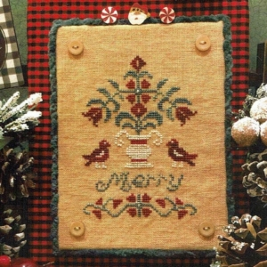 MERRY TOPIARY Cross Stitch Pattern by Scissor Tail Designs