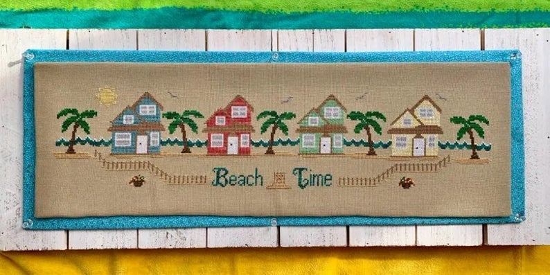 Pickle Barrel BEACH TIME Cross Stitch Pattern - BEACH Cross Stitch Pattern