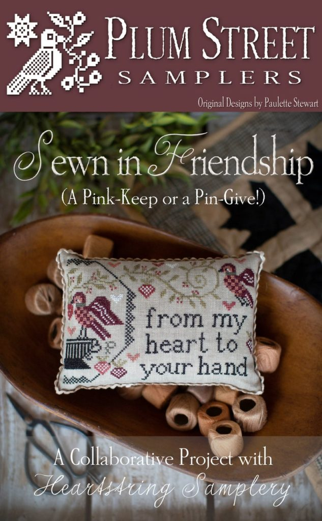 Plum Street Samplers SEWN IN FRIENDSHIP Cross Stitch Pattern