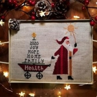 SANTA'S EARLY DELIVERY Cross Stitch Pattern by Twin Peak Primitives