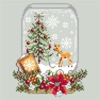Shannon Christine DEER SNOW GLOBE Cross Stitch Pattern – Christmas Cross Stitch