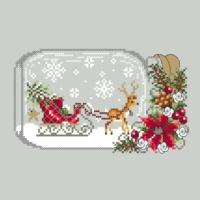 Shannon Christine SLEIGH SNOW GLOBE Cross Stitch Pattern – Christmas Cross Stitch