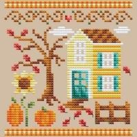 Shannon Christine PUMPKIN HOUSE Cross Stitch Pattern