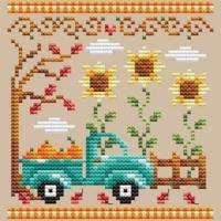 Shannon Christine PUMPKIN TRUCK Cross Stitch Pattern