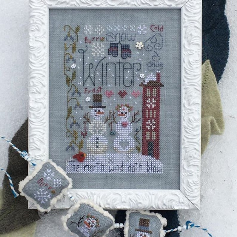Shepherd's Bush WINTER NOTES Cross Stitch Pattern