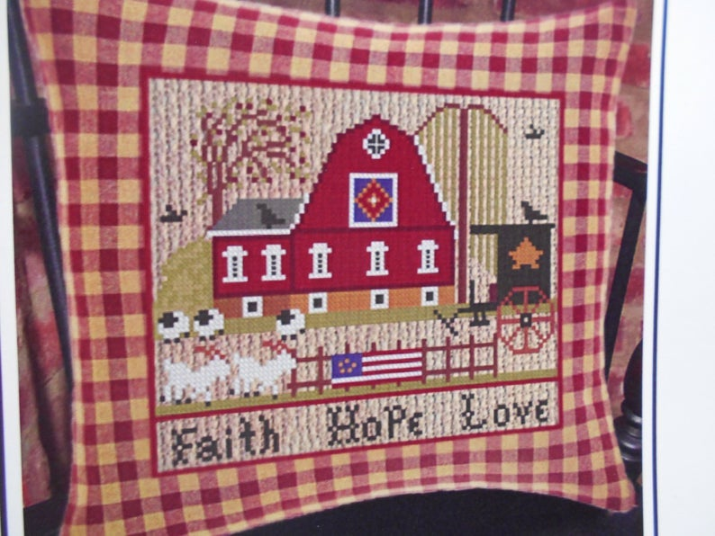 Twin Peak Primitives FAITH HOPE LOVE Cross Stitch Pattern