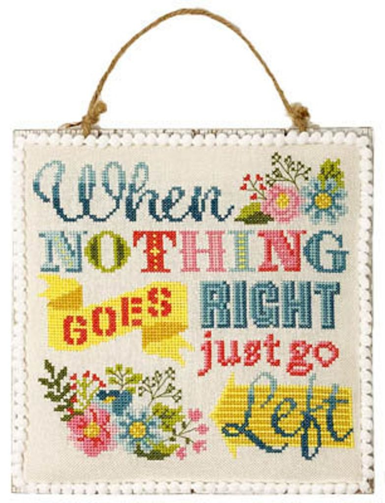 Just Go Left Cross Stitch Pattern by Tiny Modernist