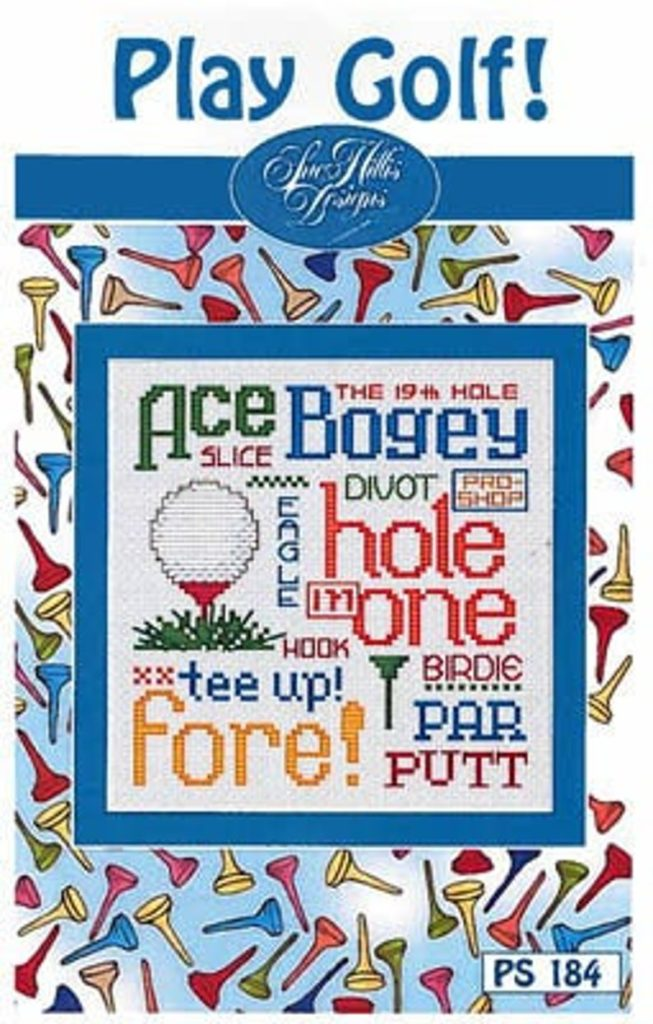 GOLF Cross Stitch Pattern by Sue Hillis Designs