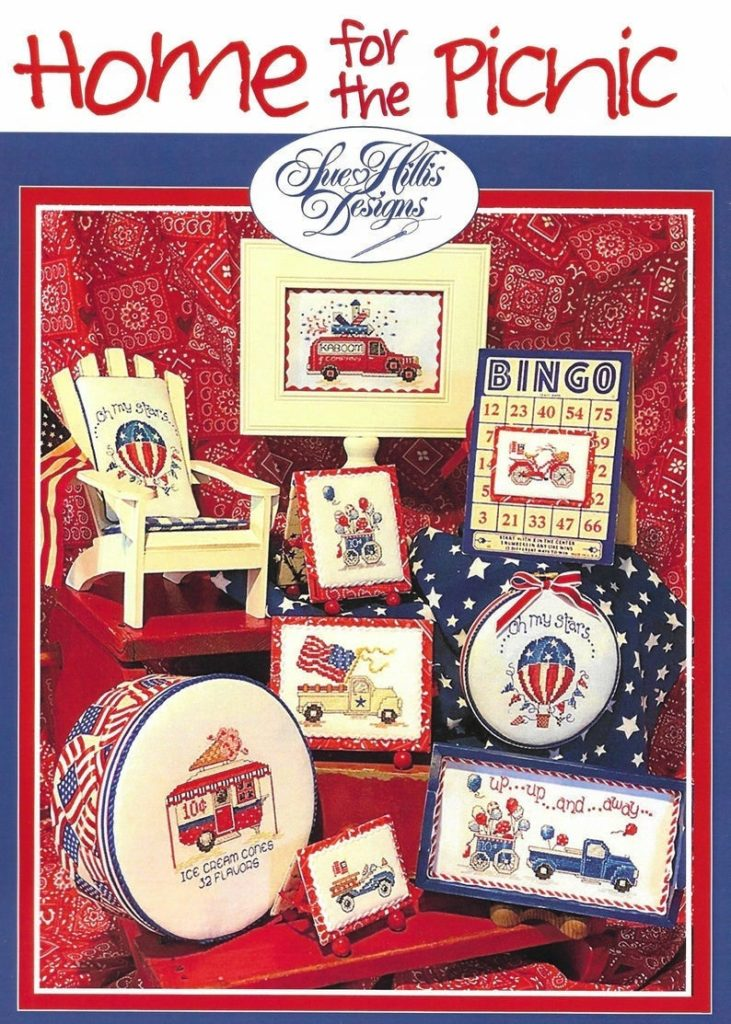 Home for the Picnic Cross Stitch Pattern by Sue Hillis