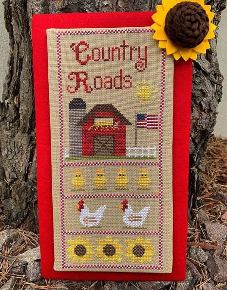 COUNTRY ROADS Cross Stitch Pattern by Pickle Barrel Designs