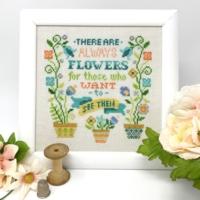 Tiny Modernist ALWAYS FLOWERS Cross Stitch Pattern