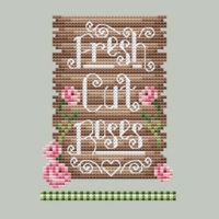 Shannon Christine CUT ROSES Cross Stitch Pattern ~ Rose Farm Collection #3
