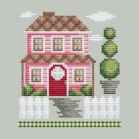 Shannon Christine FARM HOUSE Cross Stitch Pattern ~ Rose Farm Collection #2
