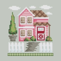 Shannon Christine GUEST HOUSE Cross Stitch Pattern ~ Rose Farm Collection #4