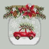 Shannon Christine TRUCK SNOW GLOBE Cross Stitch Pattern – Christmas Cross Stitch