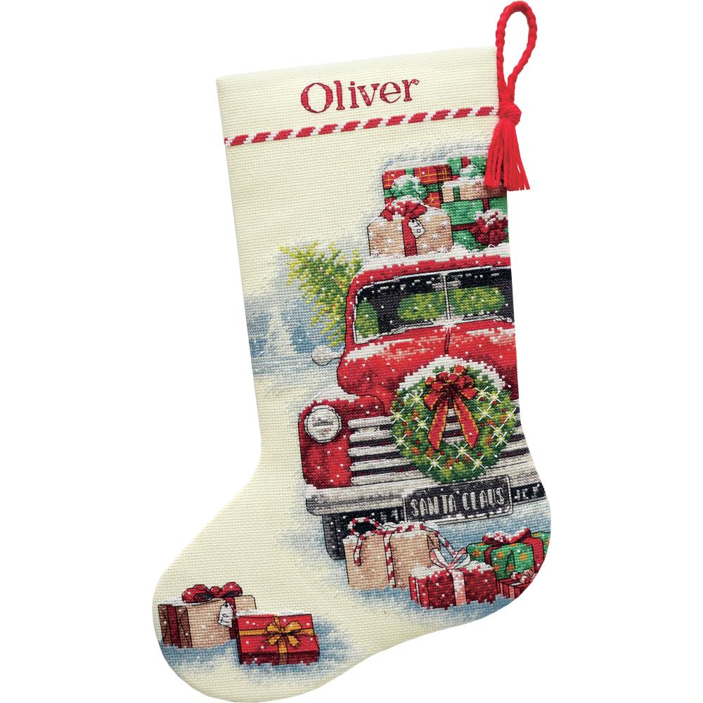 Dimensions SANTA'S STOCKING Cross Stitch Kit - CHRISTMAS Stocking Counted Cross Stitch
