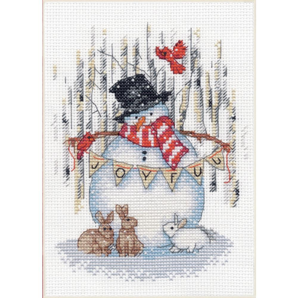 Dimensions JOYFUL SNOWMAN Cross Stitch Kit - CHRISTMAS Cross Stitch Kit