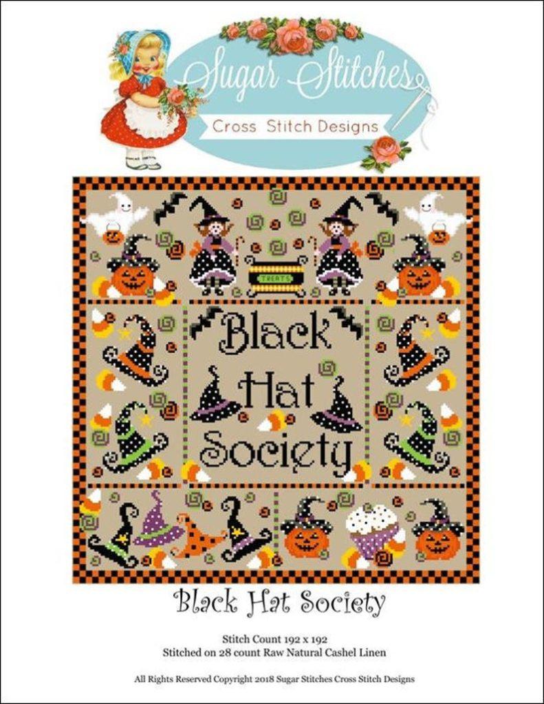 BLACK HAT SOCIETY Cross Stitch Pattern by Sugar Stitches