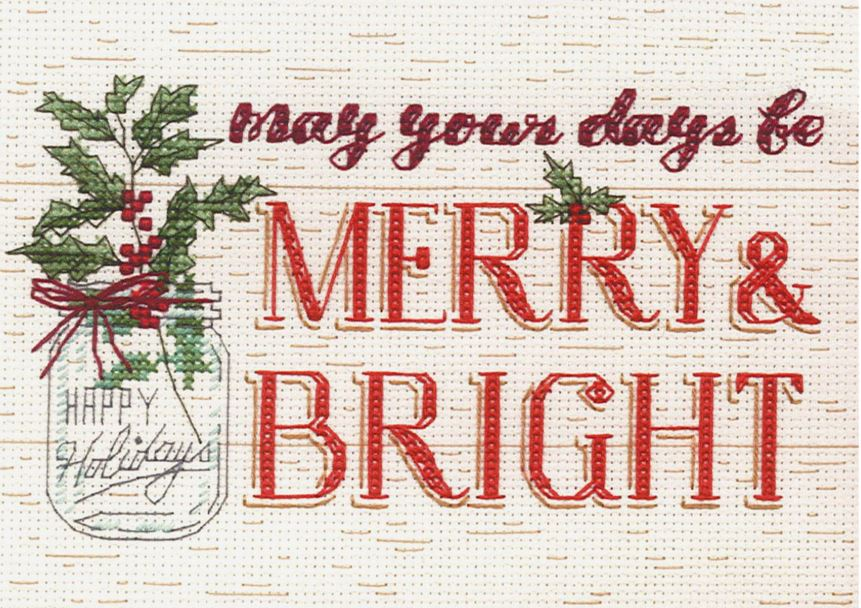 Merry & Bright Cross Stitch Kit by Dimensions