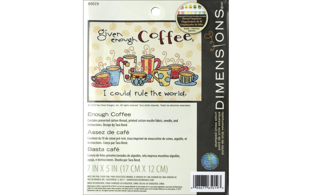 Enough Coffee Cross Stitch Kit by Dimensions