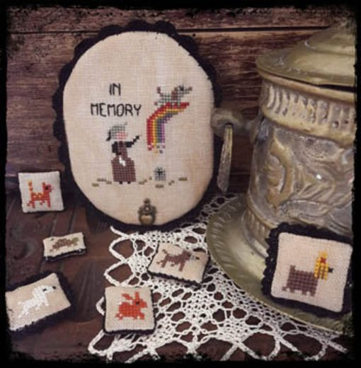 Fairy Wool in the Wood RAINBOW BRIDGE Cross Stitch Pattern