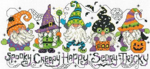 HALLOWEEN GNOMES Cross Stitch Pattern by Imaginating