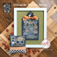 Hands on Design BOO CHALK FULL Cross Stitch Pattern – Halloween Cross Stitch