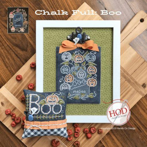 Hands on Design BOO CHALK FULL Cross Stitch Pattern - Halloween Cross Stitch