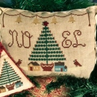Homespun Elegance FEATHER TREE NOEL Cross Stitch Pattern
