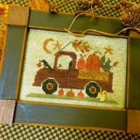 Homespun Elegance PUMPKIN PICKIN' TRUCK Cross Stitch Pattern