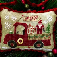 Homespun Elegance CHRISTMAS JOY TRUCK Cross Stitch Pattern